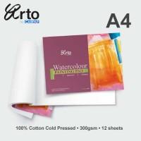 Arto A4 Water Colour Paper Pad 300gsm - Cotton