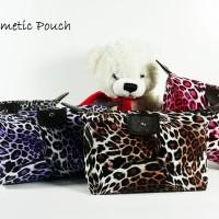 (Leopard) Pouch Tas Kosmetik Bag Make Up Body Lotion Aksesoris