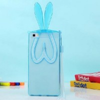 RABBIT EAR Huawei P8 Lite ALE-L21 soft case back cover casing hp lucu