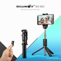 BlitzWolf BW-BS3 Bluetooth Tripod Selfie Stick Tongsis Samsung iPhone