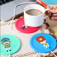 Jual USB Silicon Pad Drink Coffee Warmer / Alas Tatakan Gelas Pemanas Kopi Murah