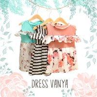 Dress VANYA Baju terusan anak perempuan gaun cewek Sabrina GROSIR