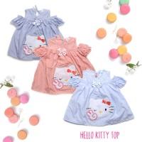 Hello Kitty Top Baju Atasan Anak Perempuan Cewek Sabrina Blouse Eceran