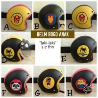 Helm Bogo Anak Karakter Laki-laki Kaca Cembung
