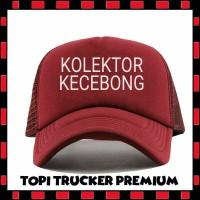 Jual TOPI TRUCKER KOLEKTOR KECEBONG MERAH MAROON L/5 - LS Murah
