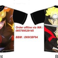 Jual Kaos T-Shirt Anime Naruto Full Print Murah