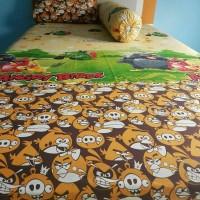 Jual Bed cover set katun catra lembut Angry Bird Size 160x200/180x200 Murah