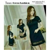 minidress wanita hitam baju dress gaun pendek polos model gaya korea