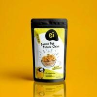 Jual Ei Salted Egg Potato Chips Snack Cemilan Enak Murah