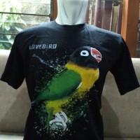 kaos baju burung lovebird dakocan