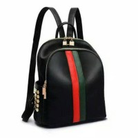 Jual Tas Ransel Fashion Gucci Studded Nylon Black Backpack Import Murah Murah