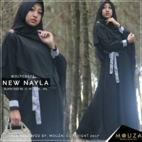 Jual Dress / Gamis New Nayla Black by Mouza Muslimah Sz XS, S, M, L Murah