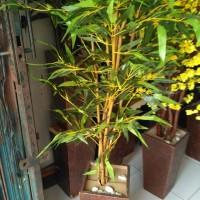 Jual pohon hias bambu | bahan daun plastik Murah