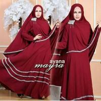 vbb setelan st hijab muslim syari ayana MAROON / baju wanita maxi