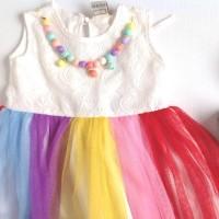 Jual RAINBOW LOLLI TUTU DRESS (with necklace) Murah