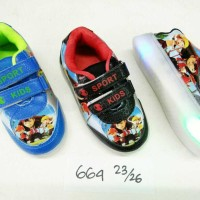 Jual Sepatu LED Boboiboy uk 23-26 (664) Murah