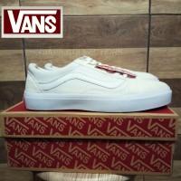 Sepatu Sneaker Vans Old Skool School Full White Putih Laki Perempuan