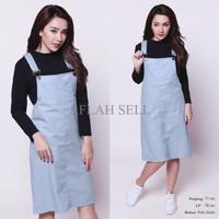 Jual GTJ Pop Culture Overall Dress Terusan Wanita Jeans Baju Gantung CDR126 Murah