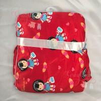 Selimut Bayi Carter Double Fleece Motif Anak Jepang Merah Halus lembut