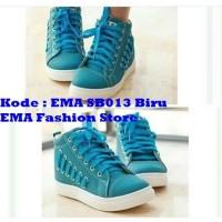 Sepatu Boots Elegan untuk Anak Muda Kode EMA SB013 Biru