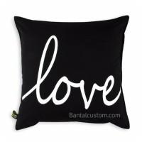 Sarung Bantal Sofa Kanvas 40X40 Love Minimalis