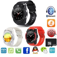 Smart Watch V8 Bluetooth Support Sim Card, Memory , Whats up (WA)