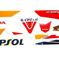 (CBR 150 R LED) Honda ORI Sticker Body Repsol Left / Stripping Kiri