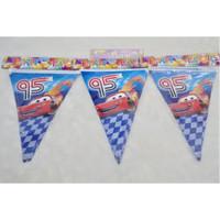 Banner Segitiga Karakter Cars - bunting flag mobil - dekor ulang tahun