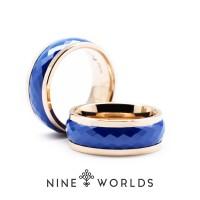 Jual Nine Worlds Ring cincin TUNGSTEN CERAMIC 18K CARBON LUME Pria Wanita Murah