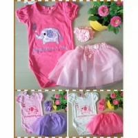 Jual Jumper rok tutu bandana bayi cewek/pink tutu/baju bayi cewek Murah