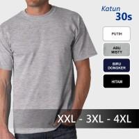 Jual Katun 30s Baju Kaos Polos Big Size Jumbo XXL 3XL 4XL XXXL Kaos Oblong Murah