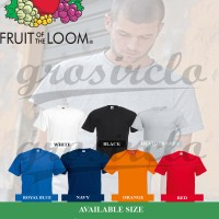 Jual Kaos Polos Fruit Of The Loom FOLT IMPORT SIZE XXL Murah