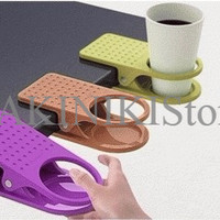 Jual PROMO MERDEKA!!! PROMO MERDEKA!!! Plastic Table Coffee Cup Holder Clip Murah