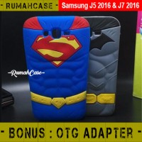Samsung J5 - J7 2016 Batman Vs Superman 3D Case Casing Soft cover kuat