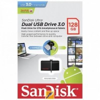 SANDISK FLASHDISK ULTRA DUAL DRIVE USB 3.0 - 128GB USB OTG