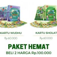 Jual Paket Hemat Bundling Kartu Muslim 4D - Kartu Shalat 4D kartu Wudhu 4D Murah