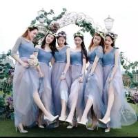 Paket 4 pcs BRDMU Gaun Baju Pesta Pengapit Bridesmaid Pengantin Maxi