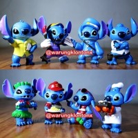 Jual Set Figure Stitch | Action Figure Stitch | Lilo & Stitch | Mainan Anak Murah