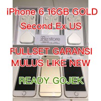 iPhone 6 16gb Second GOLD Second Ex Inter Mulus Like New
