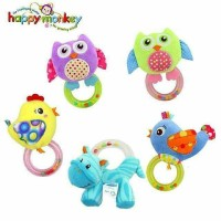 Jual Dounat Rattle Animal Cute Rattle Animal Cute Mainan Bayi Lucu Murah