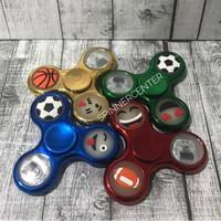 Jual Fidget Spinner LED Metallic / Spinner LED Chrome Murah