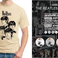 Jual Baju kaos The Beatles Cartoon - Tshirt Oblong - Grosir Distro Ordinal Murah