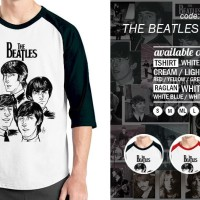 Jual Kaos Raglan The Beatles - Tshirt Oblong - Grosir Baju Distro Ordinal Murah
