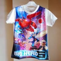 Jual ORIGINAL Disney Big Hero 6 T Shirt Kids Baju Kaos Anak ( Baymax ) Grey Murah