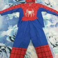 Jual Setelan Kostum Spiderman Tangan Panjang Anak Laki-Laki Size S M L Murah