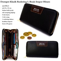 DOMPET PRIA BOAIS GREY LEATHER