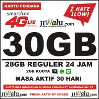 Kartu Perdana Smartfren 4G LTE Kuota 30GB | 30 GB Full Reguler