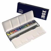 Jual Winsor & Newton Cotman Watercolours Metal Blue Box Set - 12 Half Pans Murah