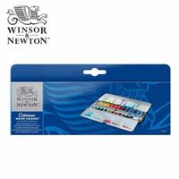 Jual Winsor & Newton Cotman Watercolours Metal Sketch Box - 24 Half Pans Murah