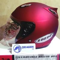 Helm basic INK Centro - Merah Doff - bkn KYT BOGO AGV RETRO CROSS ANAK